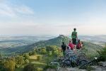 Blick vom Zeller Horn in Albstadt-Onstmettingen zur Burg Hohenzollern