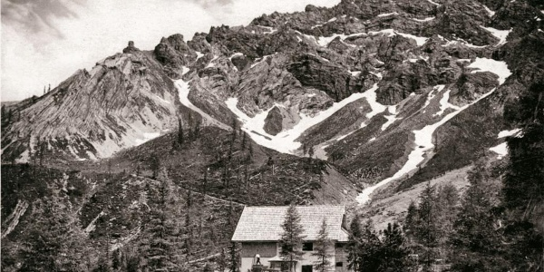 Kerschbaumeralm-Hütte des ÖTK anno 1926