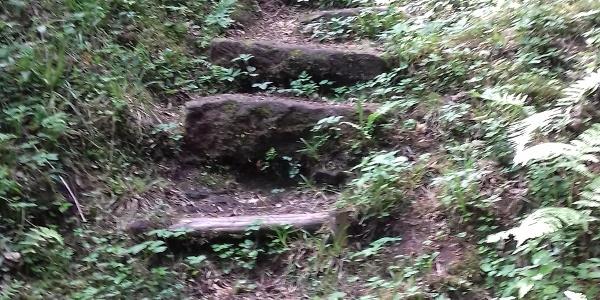 Treppe zur Burg
