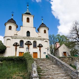 Kálvária templom lépcsőkkel