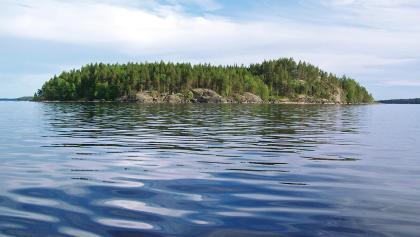 Island in Linnansaari National Park
