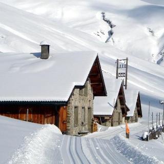Langlaufloipe Juf - Jufer Alp - Juf