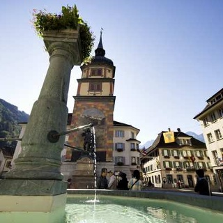 Das weltbekannte Telldenkmal in Altdorf