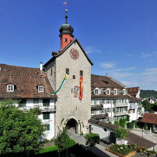 Der Bogenturm in der Stadt Bischofszell