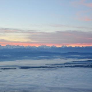Grandiose Aussicht vom Weissenstein auf die Alpenk