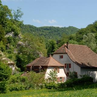 Gärtnerhaus u. Mühle beim östl. Eingang Ermitage