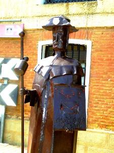 Pilgerstatue bei Revenga de Campos