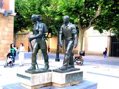 Logroño Pilgerskulptur