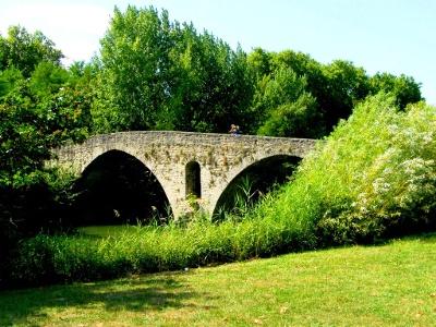 Puente Magdalena über Río Arga bei  Pamplona