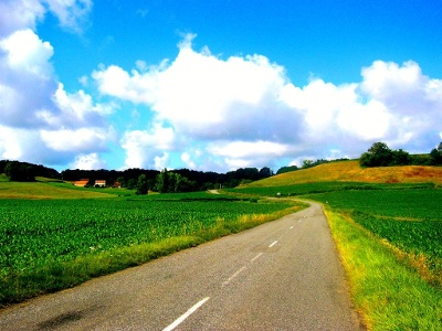 ehemalige Strecke  hinter Arzacq-Arraziguet