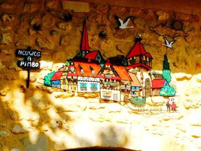 Künstler «verewigt» sich in Pimbo am Camino
