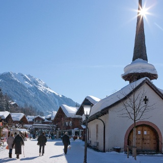 Starting point in the Promenade Gstaad