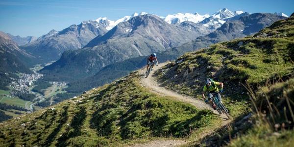 Mountain biker on the Padella Panorama  Tour