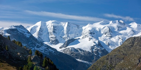 View of the Bernina group