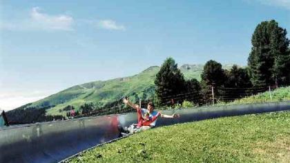 Toboggan run on the Schatzalp