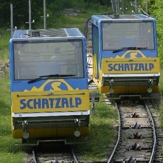 Schatzalp funicular railway track
