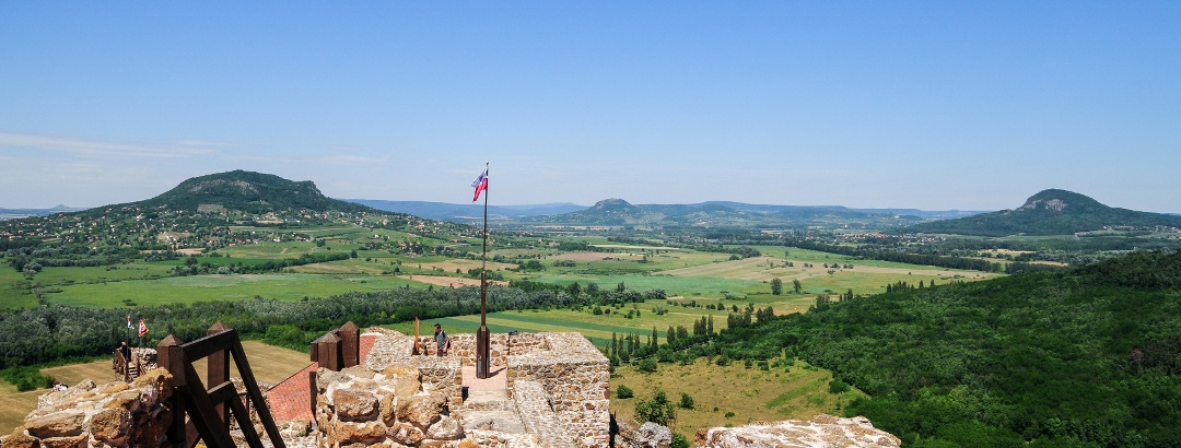 Buttes of Tapolca Basin from the castle