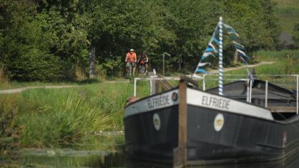 Alter Kanal, Treidelschiff, Ludwigskanal