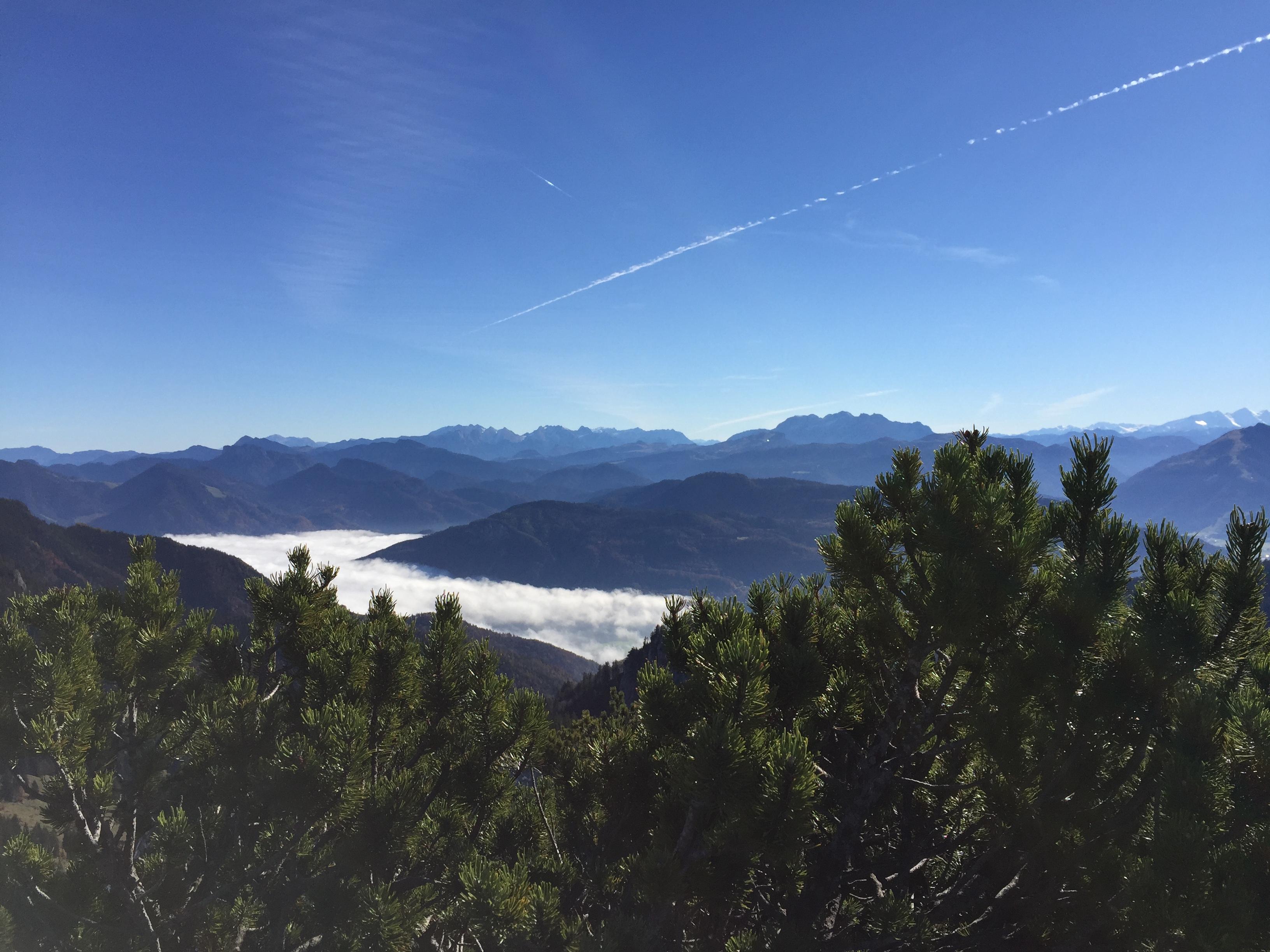 Bergpanorama Richtung Österreich