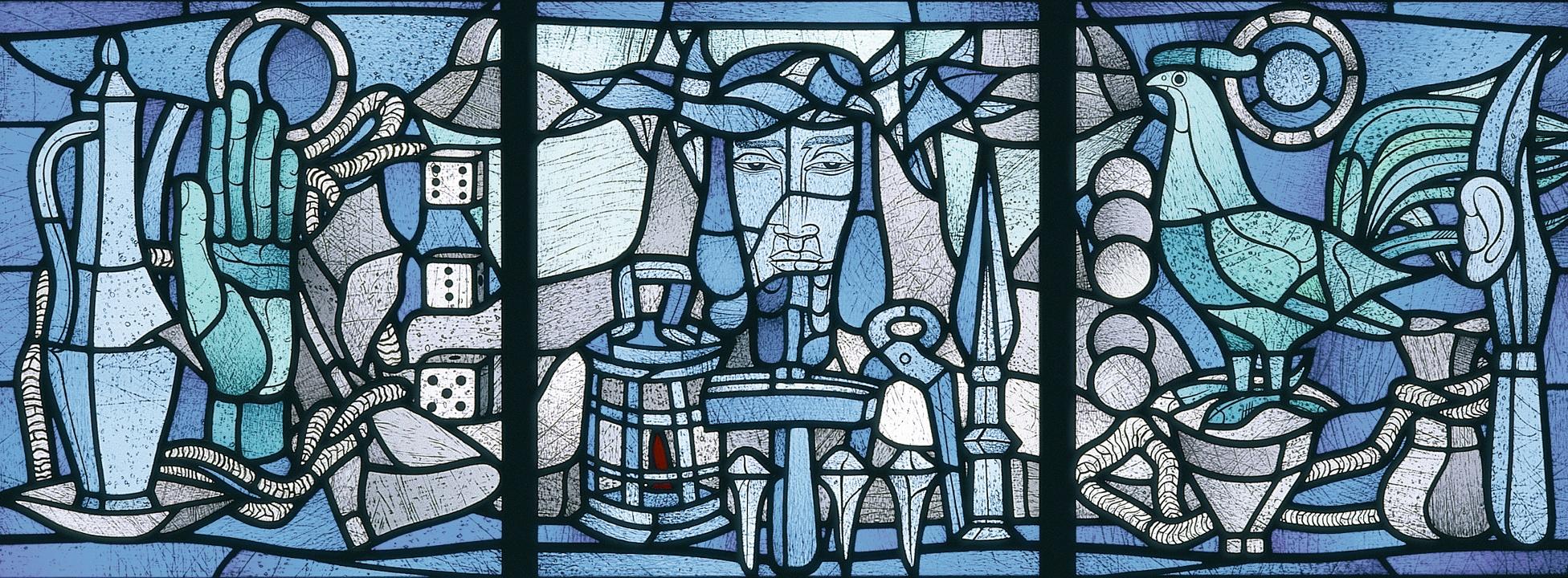 Hinterglasmalerei von Heinrich Campendonk (Museum Penzberg - Sammlung Campendonk)