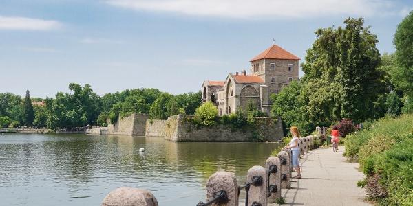 The castle of Tata near the Old Lake