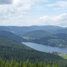 Blick vom Hochfirst auf Titisee und Feldberg