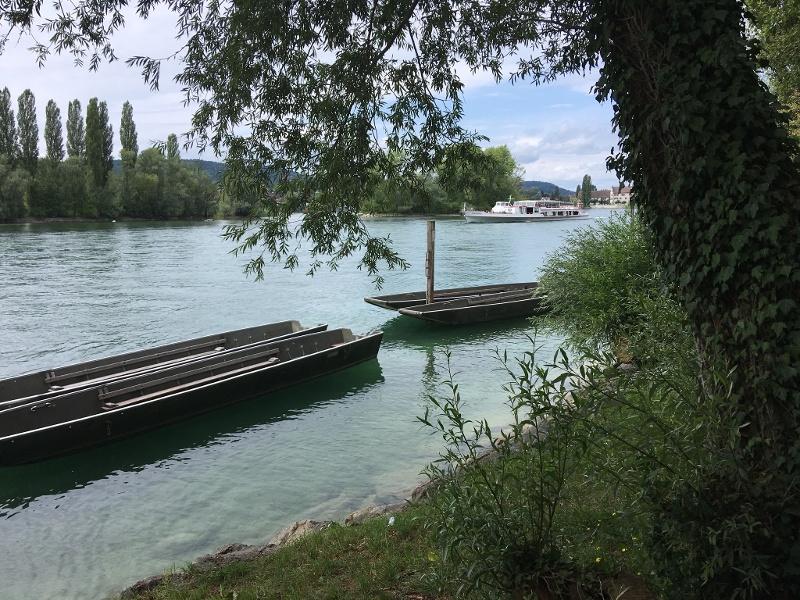 Blick vom Wanderweg nach Stein am Rhein