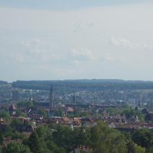 Aussicht über die Altstadt von Konstanz. Leider waren an diesem Tag die Schweizer Alpen nicht zu sehen.