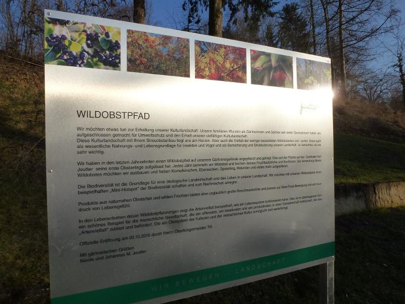 Wildobstlehrpfad Gärtnerhof Jeutter