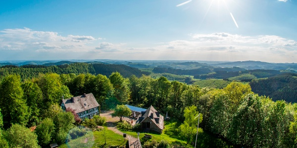 Hilchenbach Blick von der Ginsburg