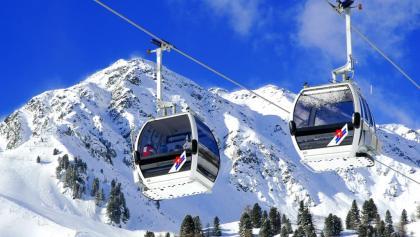 Im Skigebiet Speikboden