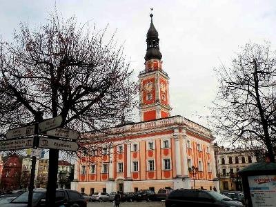 Rathaus auf dem Altmarkt in Leszno