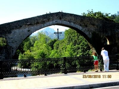 Römerbrücke über den Río Sella in Congas de Onis