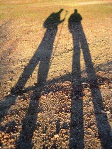 Frühaufsteher werfen lange Schatten