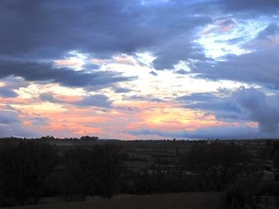 Wolkenstimmung beim Aufbruch