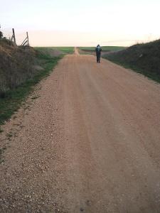 der Weg verliert sich am Horizont