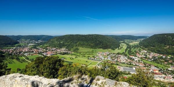 Blick von der Hiltenburg auf Bad Ditzenbach