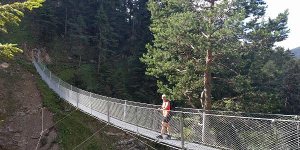 A fun little bridge near the beginning of the hike