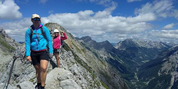 The klettersteig is rated B meaning its good for beginners and relatively stress free