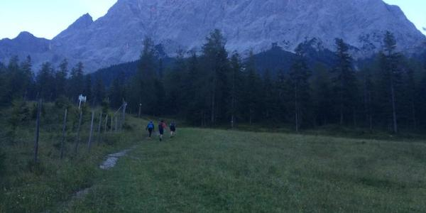 Early morning in Ehrwald - that's our mountain