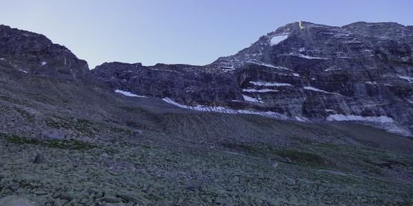 Schrammacher Nordwand kurz ober der Geraer Hütte