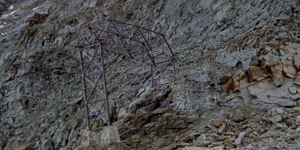 Molybdänbergwerk am Weg zur Alpeiner Scharte