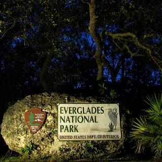 Ingresso del parco nazionale delle Everglades