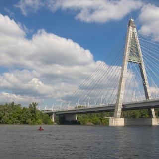 A Megyeri híd ( az M0 autópálya északi Duna-hídja)