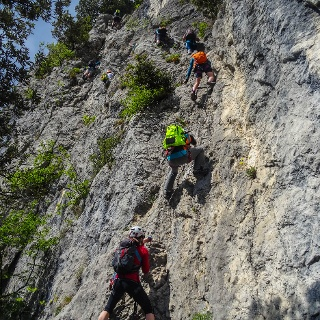 On the via ferrata