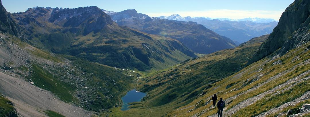 Abstieg vom Sulzfluh-Klettersteig