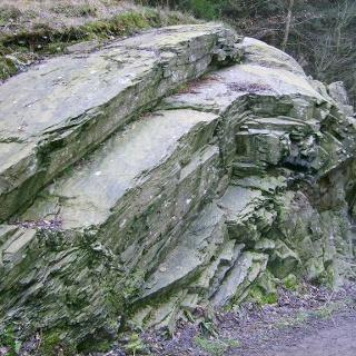 Geologischer Felssattel