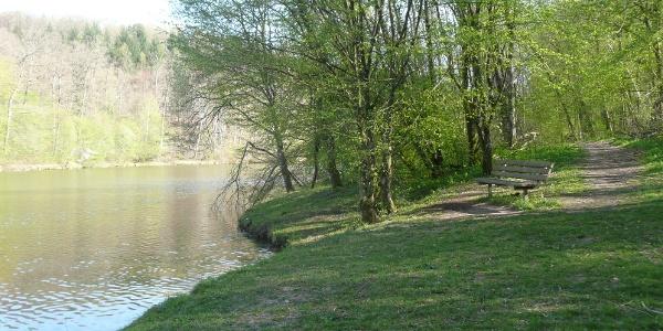 Blick auf den Sulzbach-Stausee