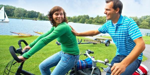 Fahrradfahrer am Vechtesee