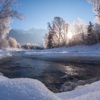 Fischbach im Winter